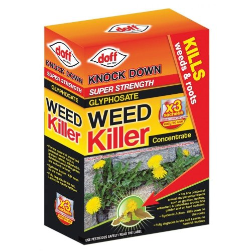 Doff Knock Down Super Strength Weedkiller Concentrate Sachets 100ml (Pack of 3)