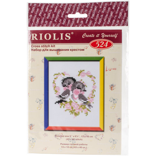 """First Love Counted Cross Stitch Kit-5""""X6.25"""" 10 Count"""