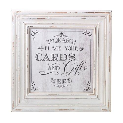 Cards Framed Square Sign White