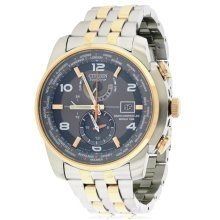 Citizen Eco-Drive Chronograph World Time AT Mens Watch AT9016-56H