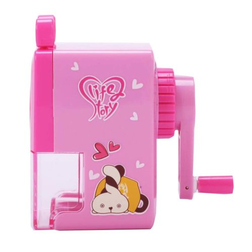 Pink Cartoon Animal Pattern Manual Pencil Sharpener for School