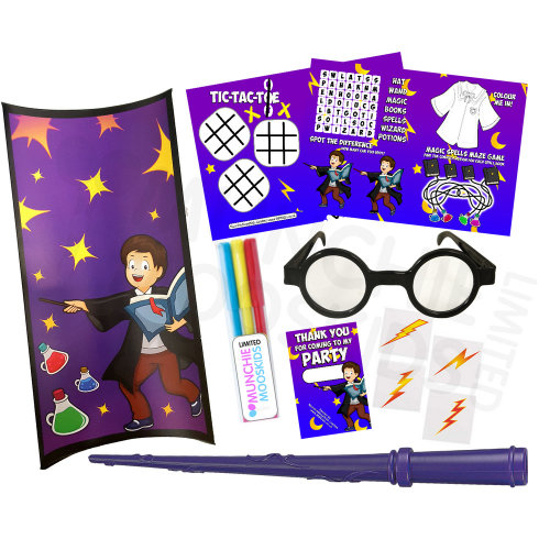 Pre-Filled Magic-Themed Party Gift Box   Children's Magic Party Box