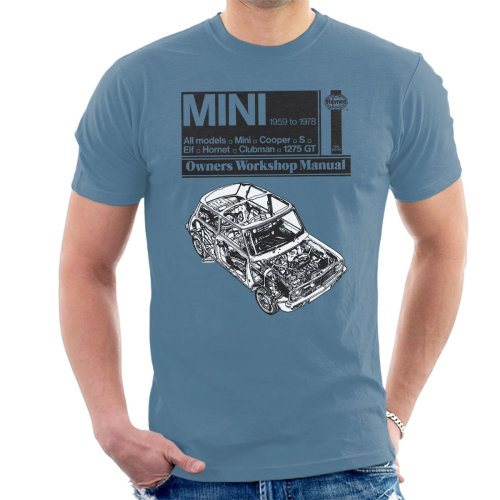 Haynes Workshop Manual Mini 1959 Black Men's T-Shirt