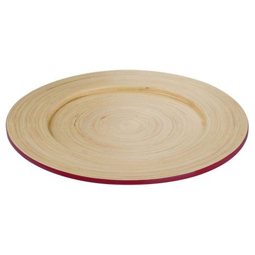 Kyoto  Spun Bamboo Plate, Raspberry,