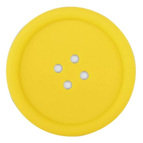 Set Of 4 Lovely Yellow Button shapes Pot Holders Insulation Mats Coffee Pads