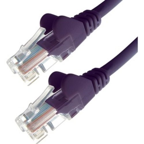 1M Purple Rj45 Utp Cat 5E Stranded Flush Moulded Snagless Network Cable 24A 28-0010P