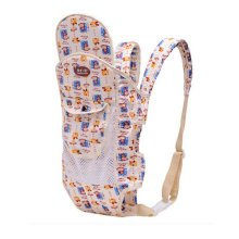 Four Position Baby Carrier with Great Back Support With Net (Creamy White)