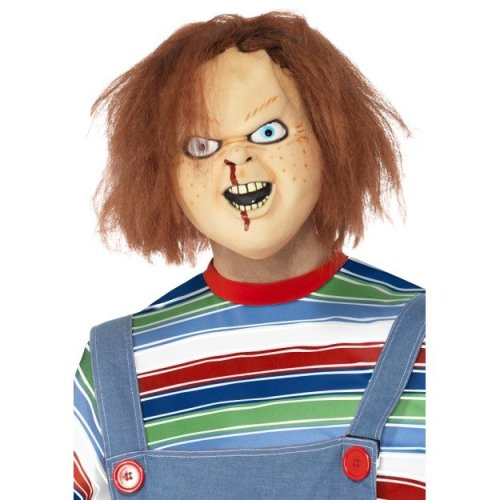 Brown Chucky Full Overhead Rubber Mask. -  mask chucky halloween fancy dress smiffys horror adult accessory costume Rubber  maschera bambola assassina