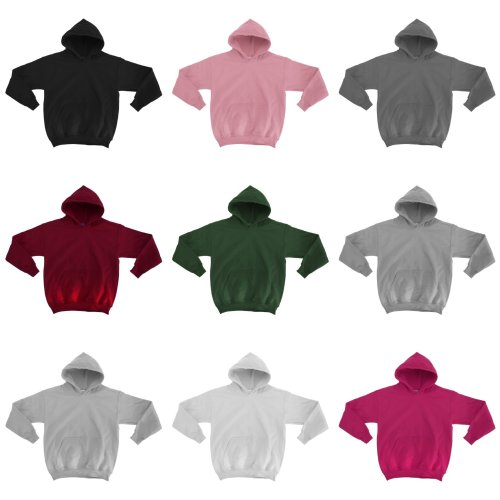 Gildan Heavy Blend Childrens Unisex Hooded Sweatshirt Top / Hoodie