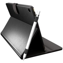 iPad Pro 10.5 Case with Pencil Holder | Folio Smart Cover Desk/Lap Stand (Black)