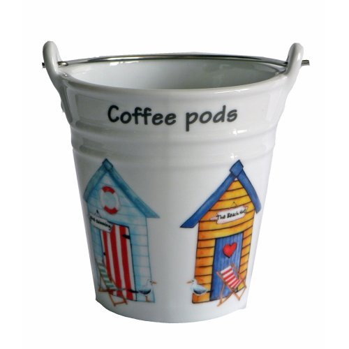 Beach hut Design Bucket for Used Coffee pods,
