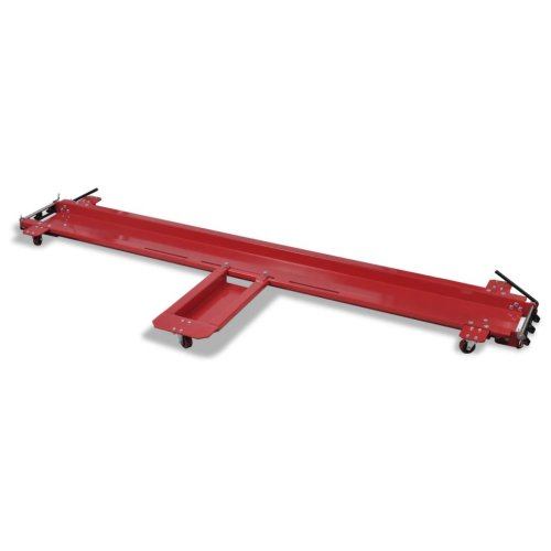 vidaXL Motorcycle Dolly Red Motorbike Stand Car Parking Mover Scooter Centre