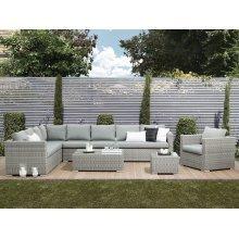 8 Seater Rattan Garden Sofa Set in Grey XXL