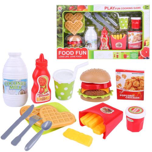 13Pcs Pretend Play Hamburger Fast Food Playset Educational Toys