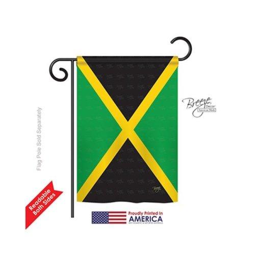 Breeze Decor 58125 Jamaica 2-Sided Impression Garden Flag - 13 x 18.5 in.