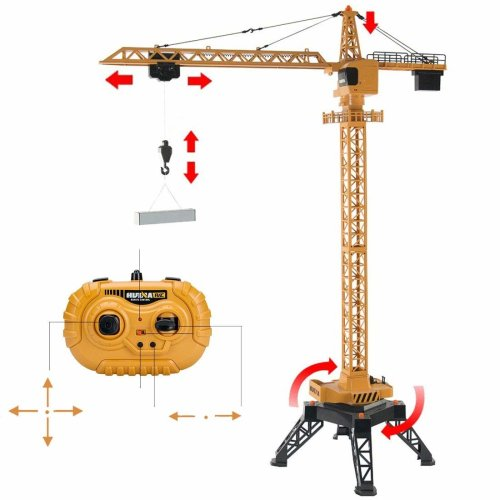 deAO RC Construction Tower Crane Radiocontrol Model Die Cast Truck