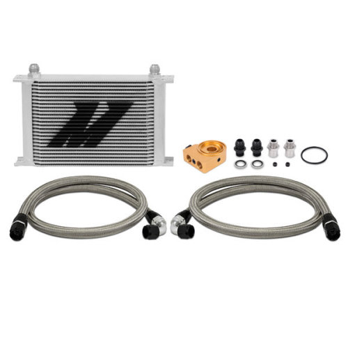 Mishimoto MMOC-UHT Universal Oil Cooler Kit, 25-Row, Silver Thermostatic
