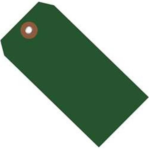 Box Partners G26054 4.75 x 2.38 in. Green Plastic Shipping Tags - Pack of 100