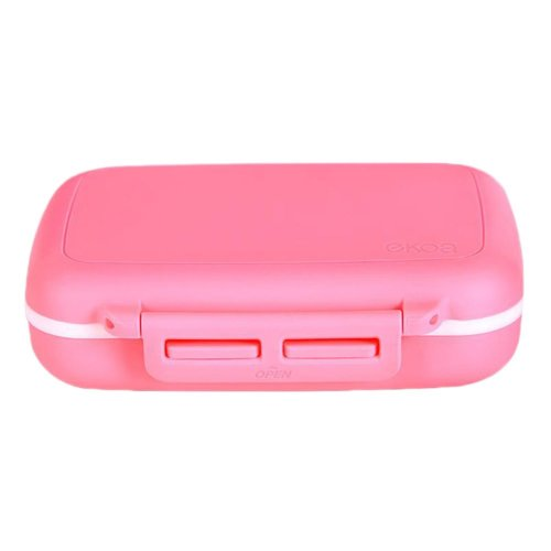 Portable Pill Organizer for Home and Travel - Pink
