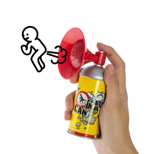 Container with Whoopee Cushion Megaphone