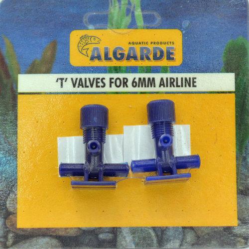 Algarde Airline Tee Valves for 4mm Airline (2 Pack)
