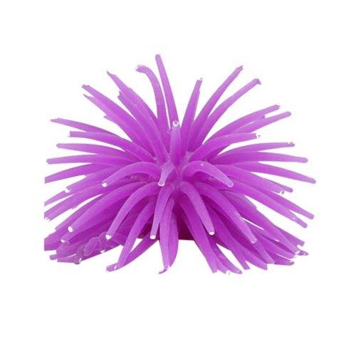 Set of 2 Creative Emulational Sea Anemone Aquarium Ornament, Purple
