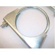 universal exhaust u clamp bolt heavy duty TV pipe hose 38mm x 3, Pk x 3