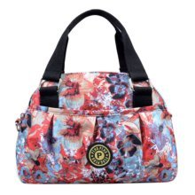 Women Waterproof Zipper Tote Bag Handbag Messenger Bag, Multicolored, Flower#4