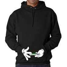 Reality Glitch's Men's Hands Rolling Hoodie.