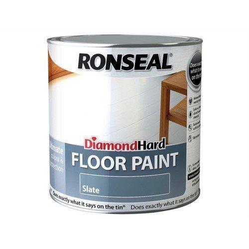Ronseal 35756 Diamond Hard Floor Paint Slate 2.5 Litre