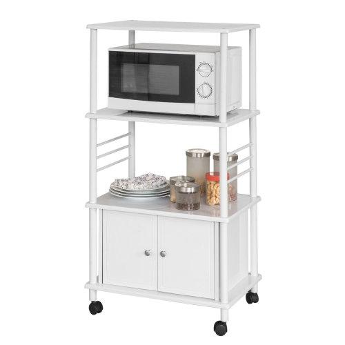 SoBuy® FRG12-W, Kitchen Storage Trolley Kitchen Cabinet Microwave Shelf