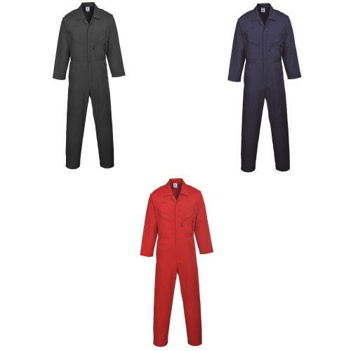 Portwest Mens Liverpool-zip Workwear Coverall (Pack of 2)