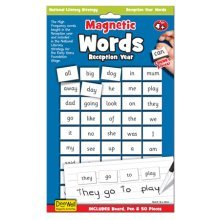 Reception Year Magnetic Words & Board Game - National Literacy Strategy Key -  magnetic words reception board year national literacy strategy key