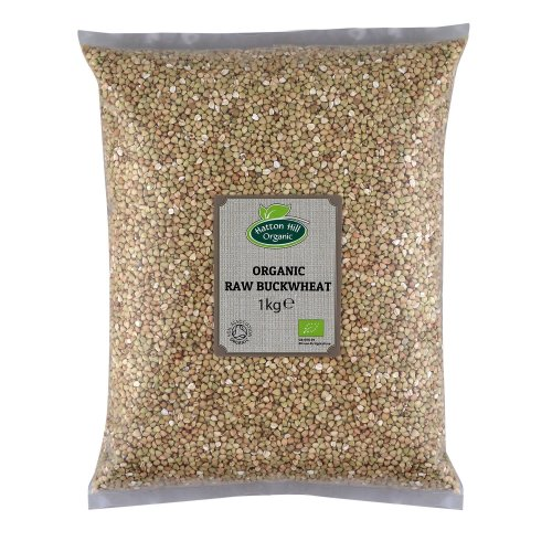 Organic Raw Buckwheat Groats 1kg by Hatton Hill Organic - Certified Organic