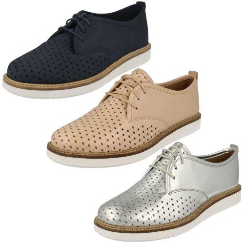 Ladies Clarks Casual Shoes Glick Resseta - D Fit