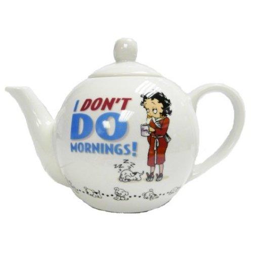 Betty Boop I Don't Do Mornings Teapot