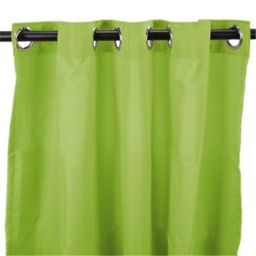 Jordan Manufacturing 3VOC5496-1327Q 54 in. x 96 in. Outdoor Curtain - Solid Kiwi