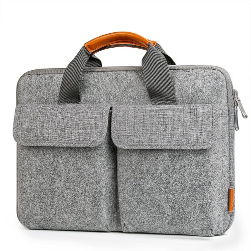"""Inateck 13-13.3"""" Laptop Sleeve, Carrying Briefcase, Felt Laptop Bag -Light Gray"""