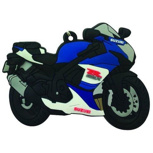 Suzuki GSXR 600 750 rubber key ring motoRbike gift chain keyring