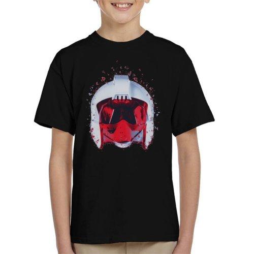 Original Stormtrooper Rebel Pilot Helmet Shatter Effect Kid's T-Shirt