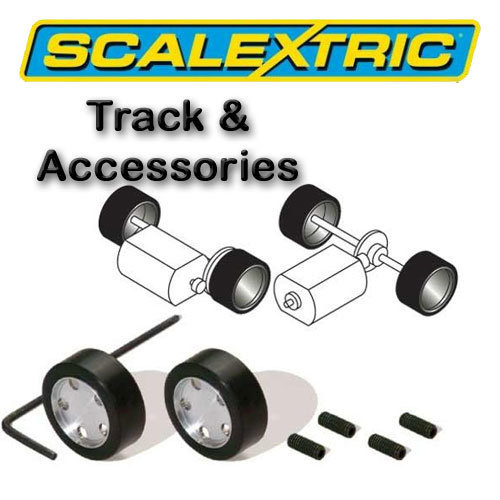 Scalextric Accessories - Rally Pack of 2 Hubs & Tyres