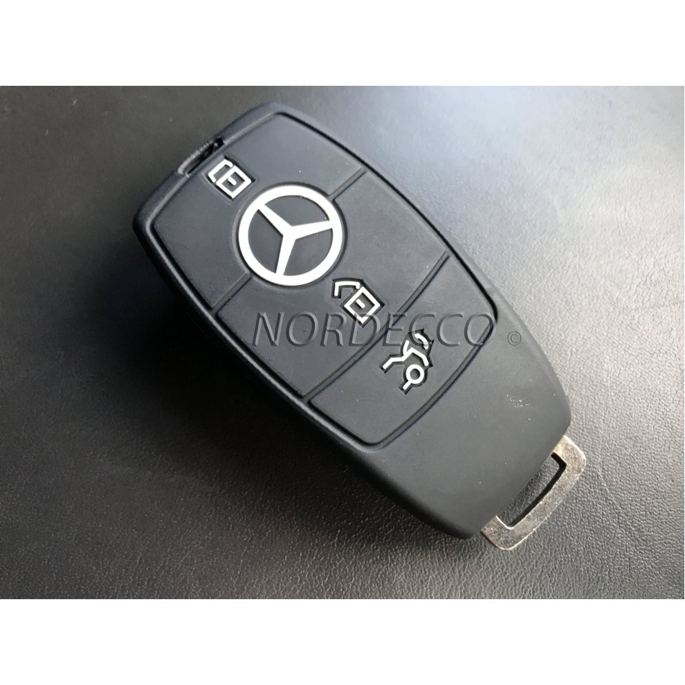 New high quality silicone 3 button smart intelligent key for Mercedes benz key cover