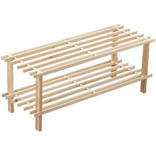 WOOD 2/3/4 TIER SLATTED SHOE RACK STAND ORGANISER STORAGE SHELF STACK UNIT NEW