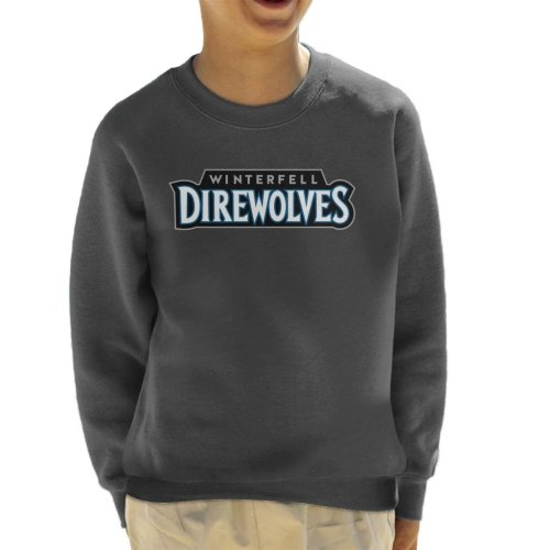 Winterfell Direwolves Text Timberwolves Inspired Game Of Thrones Kid's Sweatshirt