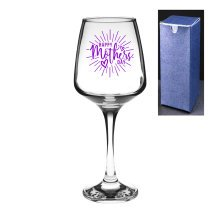 Happy Mother's Day Engraved/Embossed Tallo Wine Glass