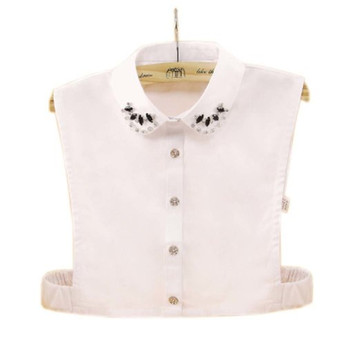 Elegant Women's Fake Half Shirt Blouse Collar Detachable Collar, #13