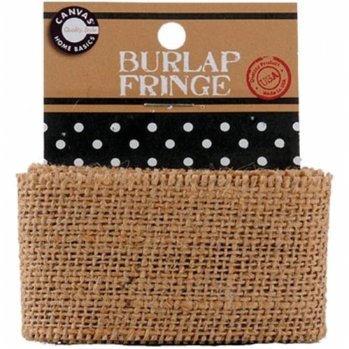 Canvas Corp CVS34-3452 Burlap Fringe 1yd-Pkg-Natural