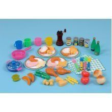 Childrens 54 Piece French Food Play Set (A1432)