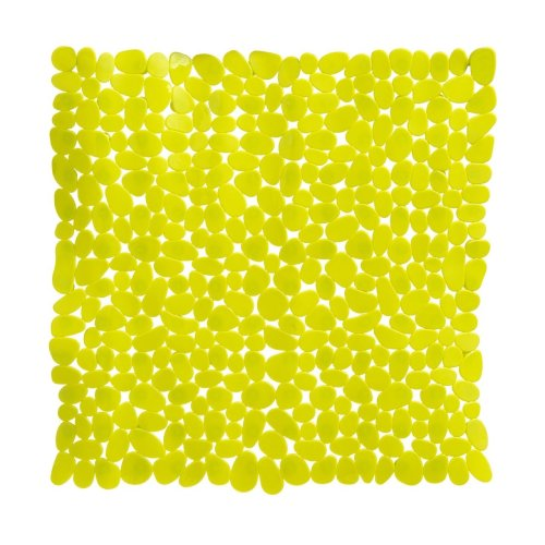 Pebble Design Square PVC Bath Mat, Lime Green