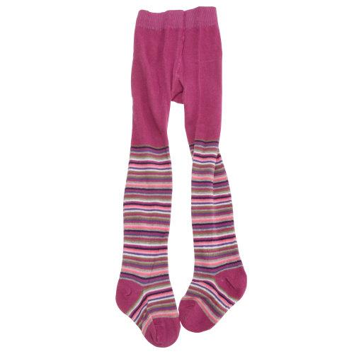 Baby Girls Fine Stripe Design Tights With Elastane